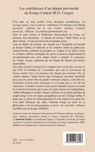 4eme Les confidences d'un député provincial du Kongo Central (R.D. Congo)