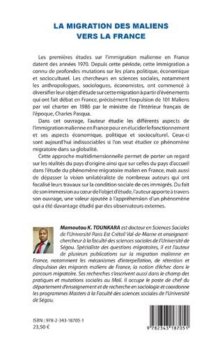 4eme La migration des maliens vers la France