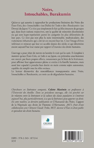 4eme Noirs, Intouchables, Burakumin