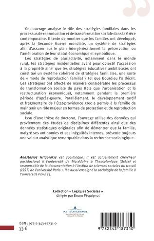 4eme Les stratégies familiales dans la reproduction et la transformation sociale en Grèce contemporaine