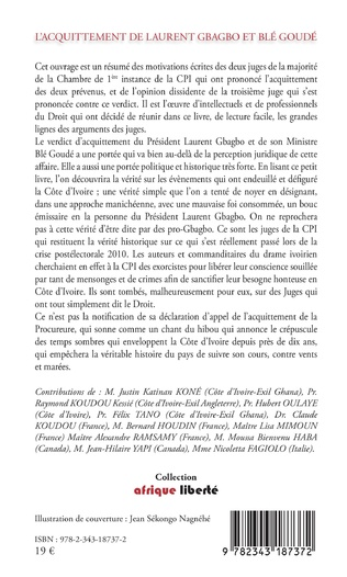 4eme L'acquittement de Laurent Gbagbo et Blé Goudé