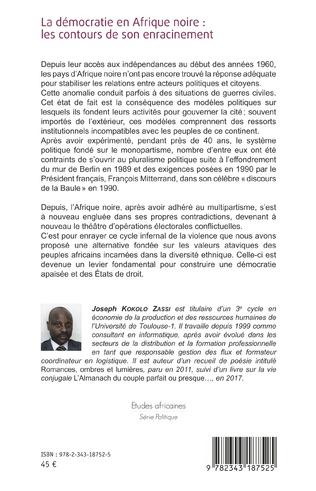 4eme La démocratie en Afrique noire : les contours de son enracinement
