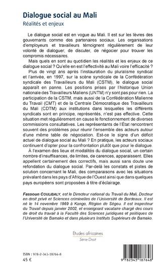 4eme Dialogue social au Mali