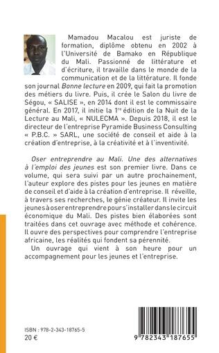 4eme Oser entreprendre au Mali