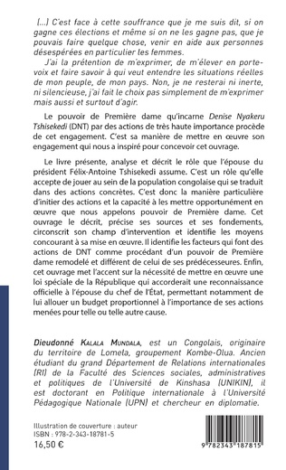 4eme Denise Nyakeru Tshisekedi et l'exercice du pouvoir de Première dame remodelé en RDC
