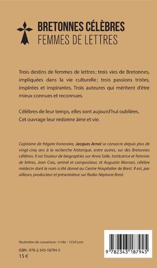 4eme Bretonnes célèbres Femmes de lettres