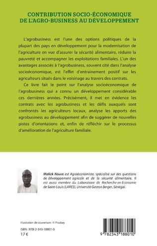 4eme Contribution socio-économique de l'agro-business au développement
