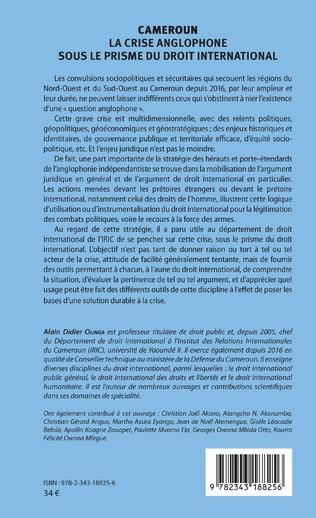 4eme Cameroun la crise anglophone sous le prisme du droit international