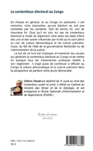 4eme Le contentieux électoral au Congo