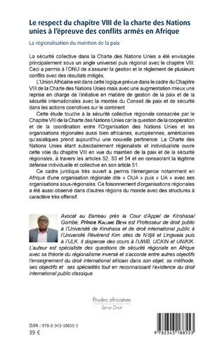 4eme Le respect du chapitre VIII de la charte des Nations unies à l'épreuve des conflits armés en Afrique