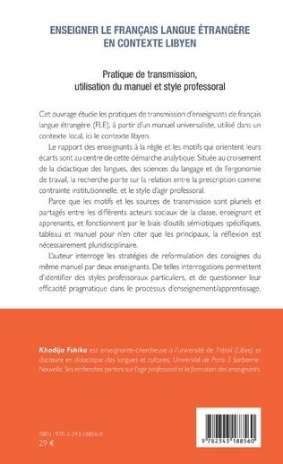 4eme Enseigner le français langue étrangère en contexte libyen