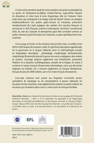 4eme Grammaire du parler marchois de Dompierre-les-Églises