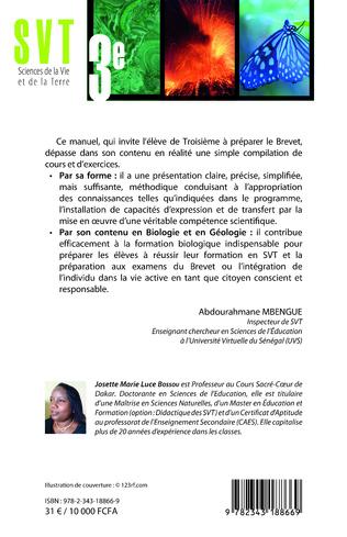 4eme SVT Sciences de la Vie et de la Terre 3è