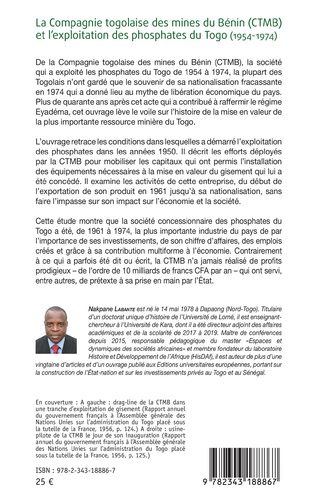 4eme La compagnie togolaise des mines du Bénin (CTMB) et l'exploitation des phosphates du Togo