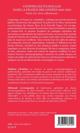 4eme Cinéphilies plurielles dans la France des années 1940-1950