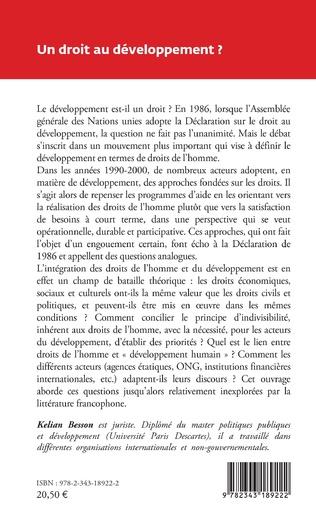4eme Un droit au développement ?