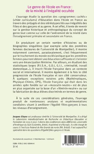 4eme Le genre de l'école en France : de la mixité à l'inégalité occultée