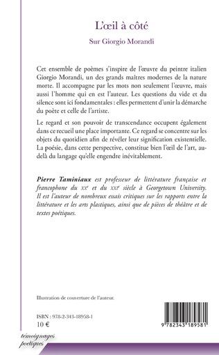 L Oeil A Cote Sur Giorgio Morandi Pierre Taminiaux Peinture Italienne Arts Livre Ebook Epub Idee Lecture Ete