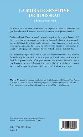 4eme La morale sensitive de Rousseau