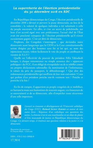 4eme La supercherie de l'élection présidentielle du 30 décembre 2018 en RDC