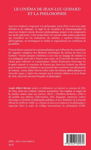 4eme Le cinéma de Jean-Luc Godard et la philosophie