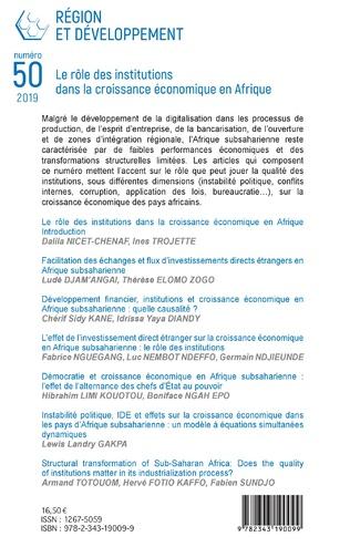 4eme Le rôle des institutions dans la croissance économique en Afrique