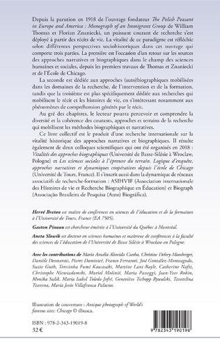 4eme Histoire de vie et recherche biographique : perspectives sociohistoriques