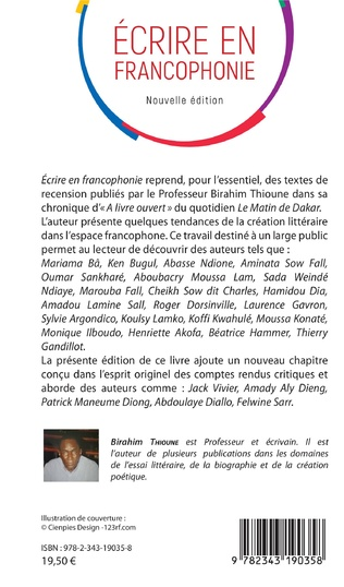 4eme Ecrire en francophonie. Nouvelle édition