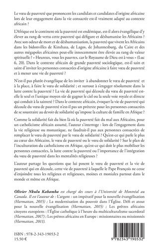 4eme Pour un catholicisme africain assumé : remplacer le voeu de pauvreté par le veau de solidarité