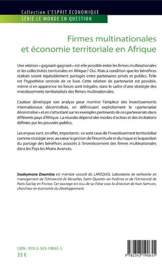 4eme Firmes multinationales et économie territoriale en Afrique