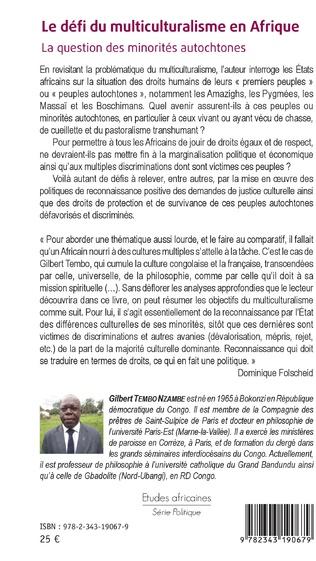 4eme Le défi du multiculturalisme en Afrique