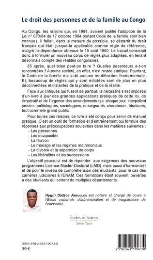 4eme Le droit des personnes et de la famille au Congo