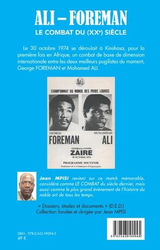 4eme Ali - Foreman. Le combat du (XXe) siècle