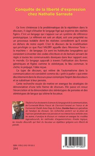 4eme Conquête de la liberté d'expression chez Nathalie Sarraute
