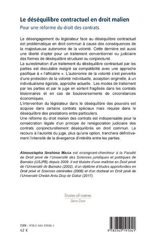 4eme Le déséquilibre contractuel en droit malien