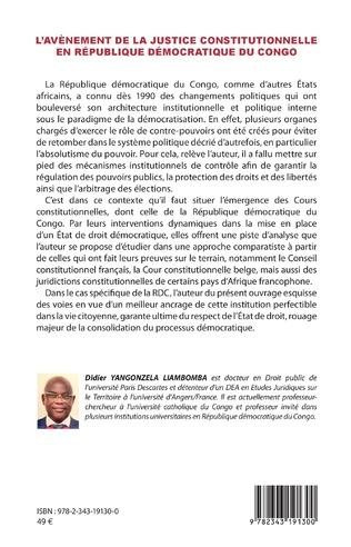 4eme L'avènement de la justice constitutionnelle en République démocratique du Congo