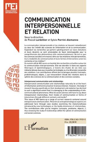 4eme Communication interpersonnelle et relation