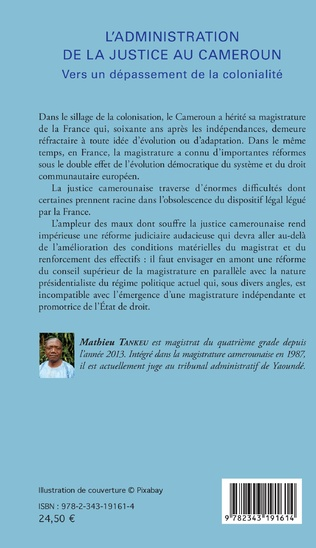 4eme L'administration de la justice au Cameroun