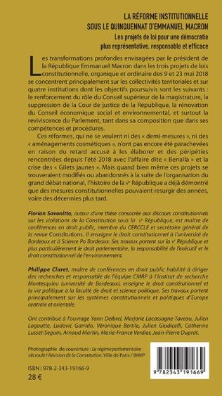 4eme La réforme institutionnelle sous le quinquennat d'Emmanuel Macron