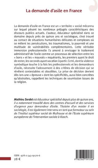 4eme La demande d'asile en France