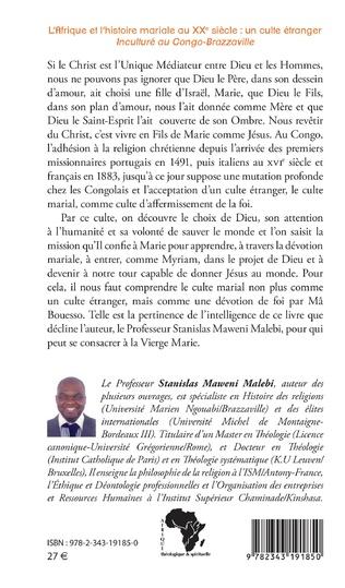 4eme L'Afrique et l'histoire mariale au XXe siècle : un culte étranger