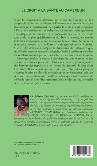 4eme Le droit à la santé au Cameroun