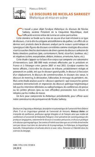 4eme Le discours de Nicolas Sarkozy