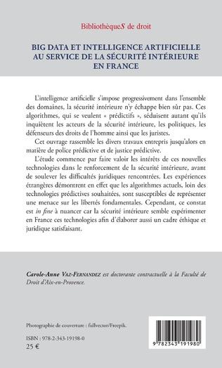 4eme Big Data et intelligence artificielle au service de la sécurité intérieure en France