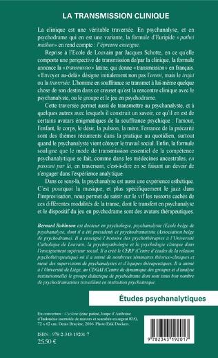 4eme La transmission clinique