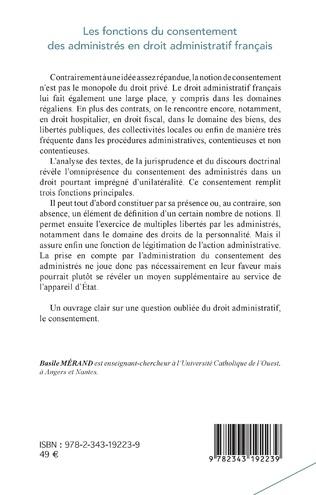 4eme Les fonctions du consentement des administrés en droit administratif français