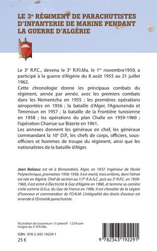 4eme Le 3e Régiment de Parachutistes d'Infanterie de Marine pendant la guerre d'Algérie