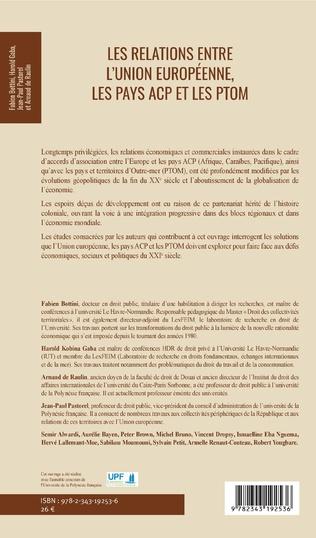 4eme Les relations entre l'Union européenne, les pays ACP et les PTOM