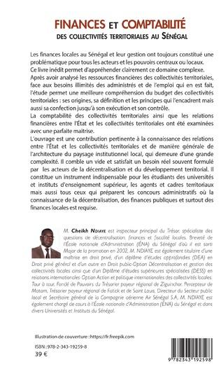 4eme Finances et comptabilité des collectivités territoriales au Sénégal