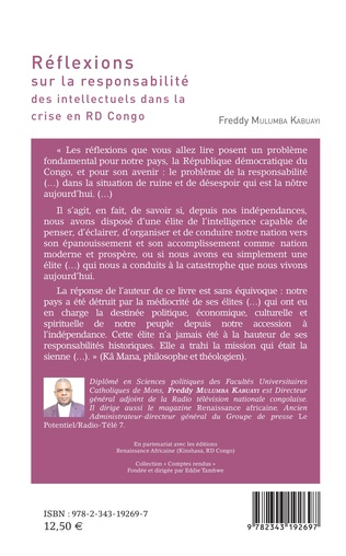 4eme Réflexions sur la responsabilité des intellectuels dans la crise de la RD Congo